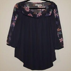 Spring Floral Shirt/blouse